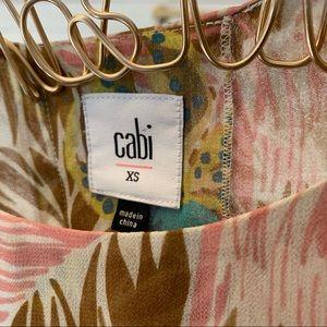 CAbi Tops - Cabi Tropical Print Parlor Top